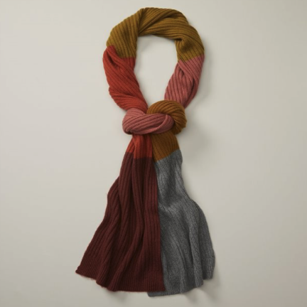 colour block scarf for your first winter in canada