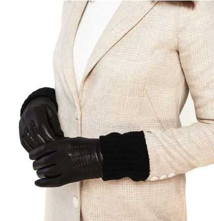 black winter gloves for your first winter in Canada